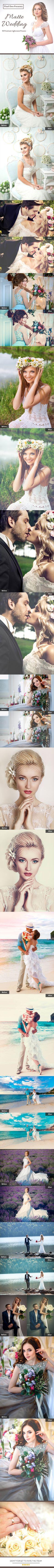 50 Premium Matte-Wedding Lightroom Presets. Download here: http://graphicriver.net/item/50-premium-mattewedding-lightroom-presets/16595093?ref=ksioks
