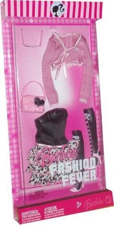 Barbie 2007 Fashion Fever Doll's Cloth Casual Outfit Assortment Set in Black And | eBay
