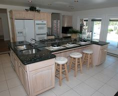 ... White Kitchen Designs, Black Granite Countertops and Black Countertops