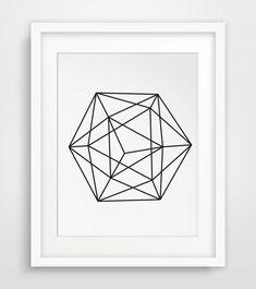 Sphere Art Circle Print Geometric Prints by MelindaWoodDesigns