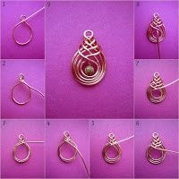 DIY wirewrapped pendant and other wire wrapping designs (in Hungarian…)  | followpics.co