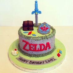 Zelda (Festa) The Legend of Zelda (Party) Video Game Cakes, Cake Videos, Video Games, Zelda Cake, Zelda Birthday, 9th Birthday, Birthday Ideas, Nintendo Party, Nintendo Cake