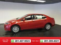 2014 Toyota Corolla LE 39k miles $15,394 39068 miles 281-407-9523  #Toyota #Corolla #used #cars #MikeCalvertToyota #Houston #TX #tapcars