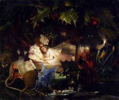 The Fairy Bower by John Anster Fitzgerald (1832-1906)