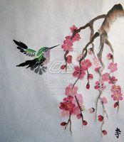Bright Hummingbird by liralenli