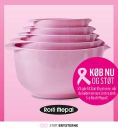 Retro pink Margrethe skåle. Støt ved køb af Rosti Mepal varer i Retro Pink. Til og med den 3. oktober. #lyserrød #pink #støtbrysterne #denlyserødesløjfe #støtengodsag #inspirationdk #lyserødinspiration #RostiMepal #Margretheskål