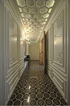 This floor tile pattern would make a great bathroom floor.