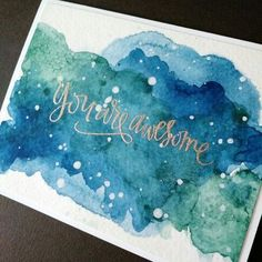 Masculine Graduation Card with Watercolor and Simon Says Stamp Big Scripty Gre . - Masculine Graduation Card with Watercolor and Simon Says Stamp Big Scripty Gre … - Karten Diy, Watercolor Cards, Watercolor Lettering, Green Watercolor, Simon Says Stamp, Greeting Cards Handmade, Graduation Cards Handmade, Creative Cards, Diy Cards