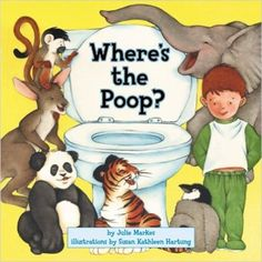 A lift-the-flap book about animals (and poop); our fave to read with the kids during toilet training