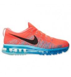 Nike Flyknit Air Max Pas Cher Chaussures de Running Homme Code de Style: 620469 600 Pourpre Clair / Noir-Bleu Photo-20