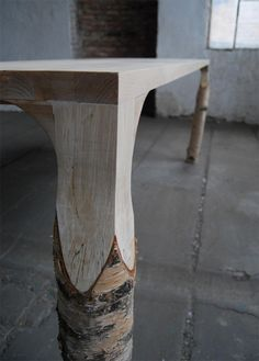 Table Bouleau par Deslignes - Journal du Design