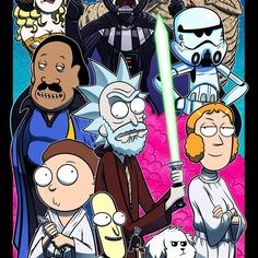 Here's our latest mash-up, Rick & Morty meets Star Wars! Use the FUUUOoorrce Morty - Collab w/ Mike Vasquez Cartoon Cartoon, Rick And Morty Crossover, Ricky Y Morty, Rick Und Morty, Rick And Morty Poster, Adult Cartoons, Fan Art, Anime, Geek Culture