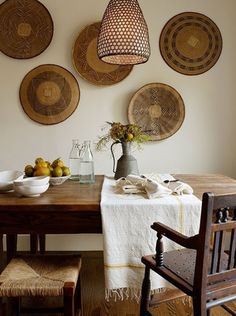 dining room with great textures