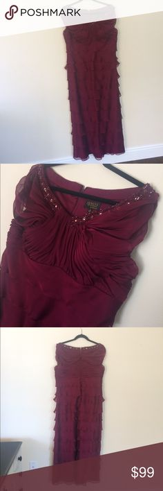 Ignite gown NWOT size 18 prom homecoming WoW! This Beautiful Burgundy long gown NWOT! Size 18 is stunning!  The open neck is a very sexy look along with just enough coverage of the shoulder!  This amazing gown will be perfect for your black tie event and special evening! & Other Stories Dresses Prom