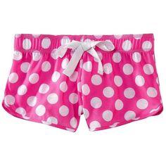 Xhilaration Girls Pajama Short Assorted Colors ($13) ❤ liked on Polyvore featuring pajamas, shorts, pijamas and bottoms