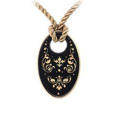 Barokk fekete-arany finomporcelán ovál nyaklánc Washer Necklace, Jewelry, Jewlery, Jewerly, Schmuck, Jewels, Jewelery, Fine Jewelry, Jewel