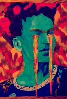 Lagrimas de Frida - tinta sobre papel