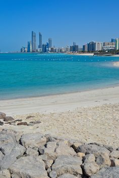 The beaches of Abu Dhabi, United Arab Emirates