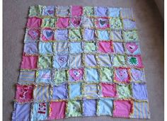 I made a rag quilt out of some of my daughters baby clothes!!! sewing