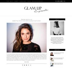 Glam Up free blogger theme Spring Girl, Aesthetic Design, Blogger Themes, Blogger Templates, Free, Blogging, Website, Tips, Advice