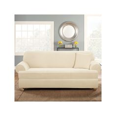 Cheap Sofas Serta Relaxed Fit Sofa Slipcover Brown Products Slipcovers and Sofas