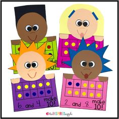 This math craft is perfect for using with students in pre-K, kindergarten, first grade, and second grade who are working on making ten. It aligns with Common Core Standard CCSS.Math.Content.1.OA.C.6 and will fit into your math curriculum activities for teaching students to make a ten. It's fun, engaging, and simple to do!