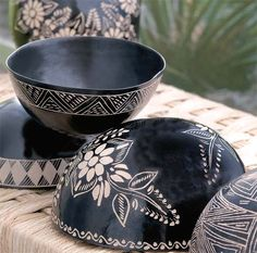 For many years, pottery has played an integral role in society, with many people collecting and making their own different variety. In some cases, ancient pottery has been sold for thousands, if no… Ceramic Bowls, Ceramic Pottery, Decorative Items, Decorative Bowls, Coconut Shell Crafts, Art Shed, Pottery Painting Designs, Coconut Bowl, Keramik Vase