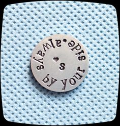 Pocket Token, Love Token, Stamped Pocket Coin, Custom Gift, Husband, Wife, Military Gift, GOLF BALL Marker