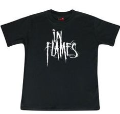 littlerockstore baby rock clothes kids rock clothes In flames Band kids metal clothes baby metal clothes littlerocker