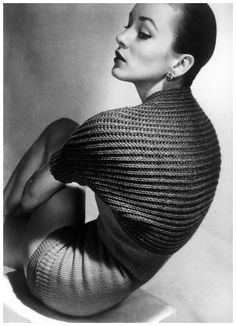 Photo by Horst P. Horst, April 1950, designer of this outfit is Tina Leser, Vogue.