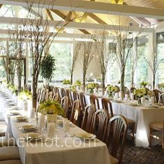 Lakeside Wedding ideas   White Reception Decorations