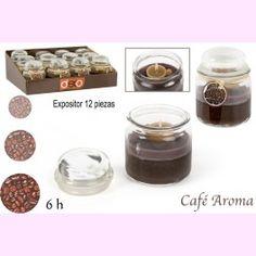 Vela Aromática de Café en Tarro de Cristal. Un #regalo útil y delicioso para tus invitados. PVP: 2,61 €