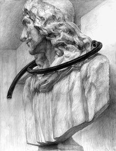 美術への確実な一歩に 芸大・美大受験総合予備校  新宿美術学院  学生作品 2009年度 デザイン・工芸科 デザインコース Pencil Drawings, Sketches, Fine Art, Statue, Black And White, Painting, Sketchbooks, Traditional, Design