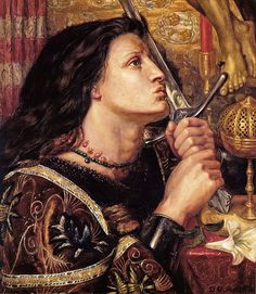 "Dante Gabriel Rossetti (1828-1882), ""Joan of Arc Kissing the Sword of Deliverance"""