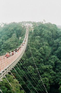 Cable foot bridge in Taiwan