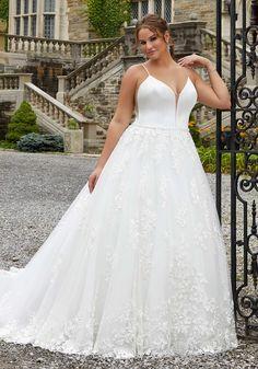 Suki Wedding Dress | Style 2125 | Morilee by Madeline Gardner Plus Size Wedding Gowns, Bridal Wedding Dresses, Dream Wedding Dresses, Designer Wedding Dresses, Tulle Balls, Tulle Ball Gown, Ball Gowns, Mori Lee Bridal, Suki