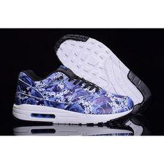 best sneakers ca78e 7d952 Nike Air Max 1 Ultra 747105-401 Meskie Niebieskie Czarne Kwiaty
