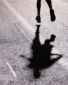 Runners always have their shadow to keep them company. #activelifestyle #running @mindensemble