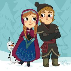 Frozen by knightJJ on deviantART   { Disney Frozen - Anna - Kristoff - Olaf }