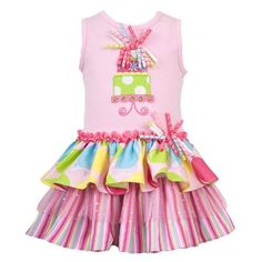 Rare Editions NEWBORN/INFANT 3M-24M PINK KNIT TO TRIPLE TIERED MIX PRINT 'Tiered Cake' APPLIQUE Girl Birthday Party Dress Rare Editions, http://www.amazon.com/dp/B008V5NE7C/ref=cm_sw_r_pi_dp_vi1iqb00VFRJM