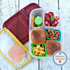 My Epicurean Adventures' Lunch Box Fun 2015-16: Week #10-12. Lunch box ideas, school lunch ideas #EasyLunchboxes