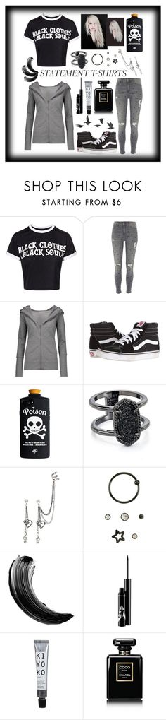 """""""Black is poetic"""" by jumainakmir ❤ liked on Polyvore featuring River Island, Norma Kamali, Vans, Kendra Scott, Chanel, Jayson Home and Beauty Secrets"""