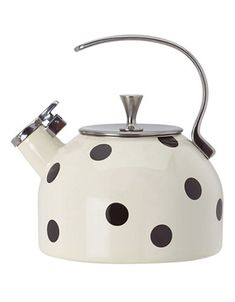 The Kate Spade New York Whistling Scatter Dot Tea Kettle, available at Hudson's Bay, is so cute Mom will want to leave it out on the stove top!
