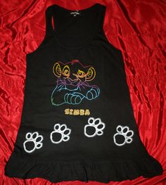 The Lion King Lion, Hand Painted, Tank Tops, Clothing, Ideas, Women, Fashion, Leo, Outfits