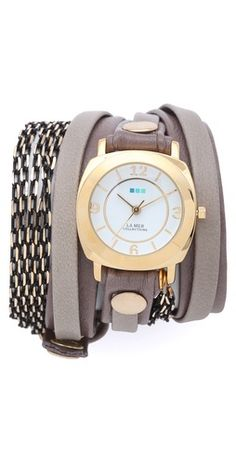 La Mer Collections Aperitif Chain Wrap Watch I really need to get myself one of these. I actually love the whole line