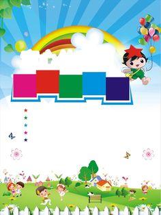 kindergarten enrollment poster background material