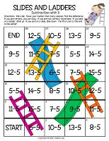 Fact Fluency Game - slides and ladders