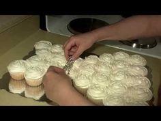 Wedding Dress Cupcake Cake Part 2 - YouTube