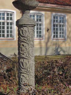 Beautiful stone carving, Haapsalu. Estonia