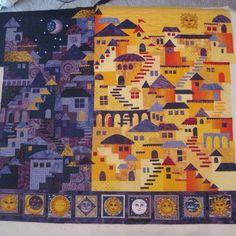 Night & Day Happy Village Quilt.